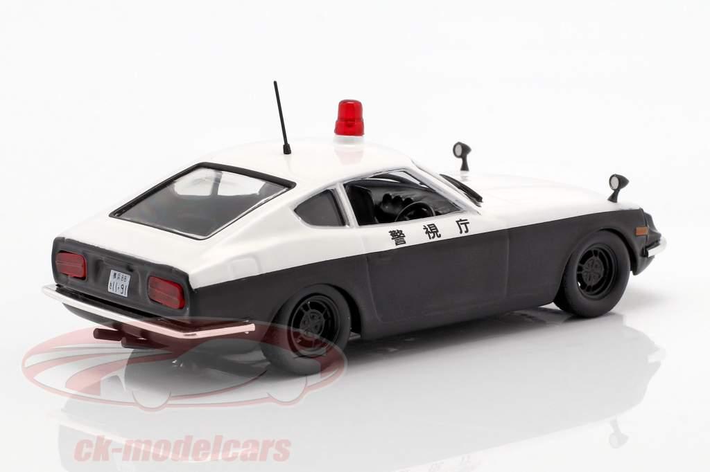 Datsun Fairlady 240 Z polizia bianco / nero in bolla 1:43 Altaya
