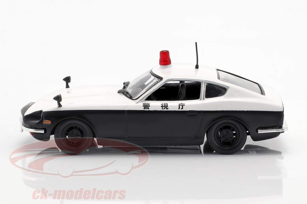 Datsun Fairlady 240 Z politi hvid / sort i vabel 1:43 Altaya