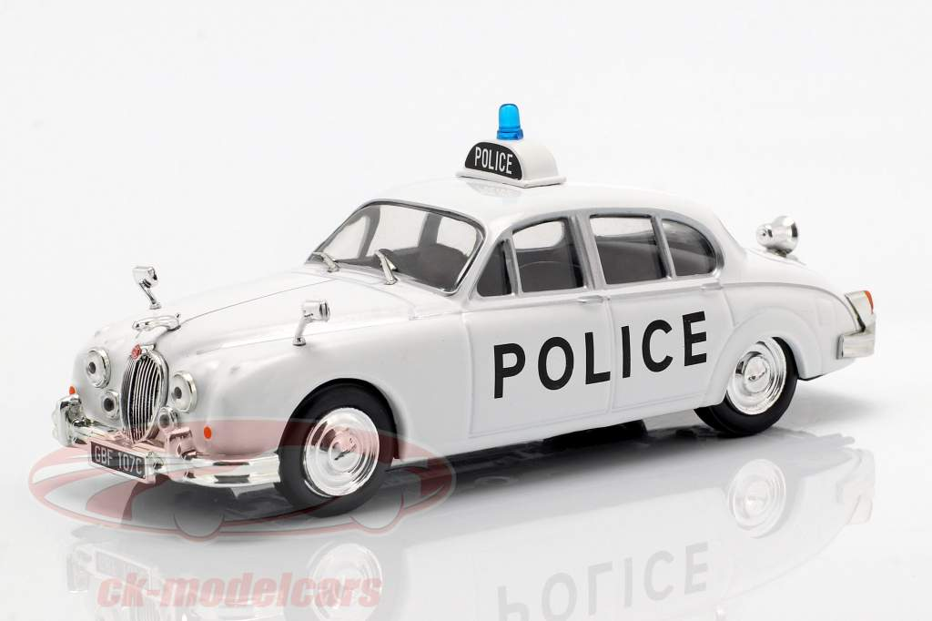 Jaguar MK II politique blanc en cloque 1:43 Altaya