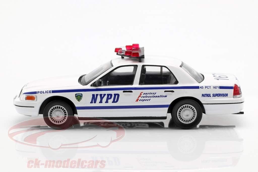 Ford Crown Victoria NYPD bianco / blu in bolla 1:43 Altaya
