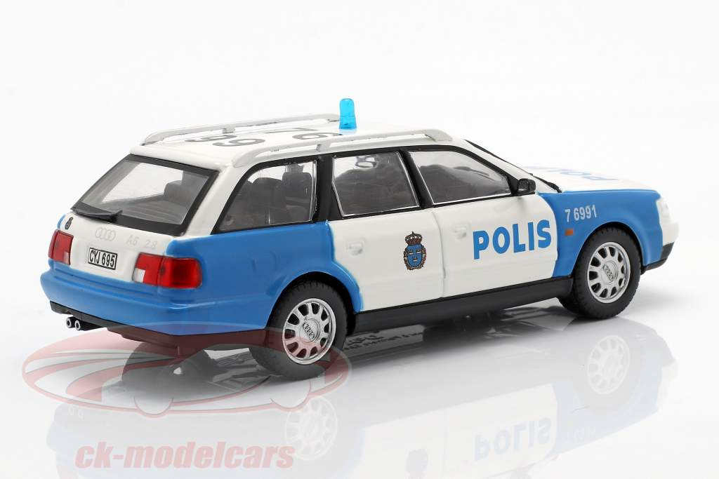 Audi A6 Avant police blanc / bleu en cloque 1:43 Altaya