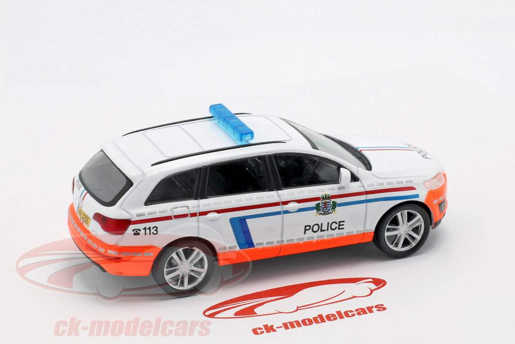 Audi Q7 police blanc / orange en cloque 1:43 Altaya