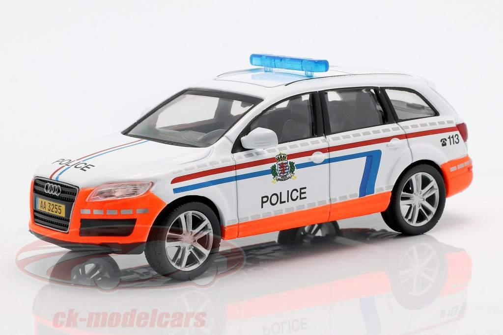 Audi Q7 policía blanco / naranja en ampolla 1:43 Altaya