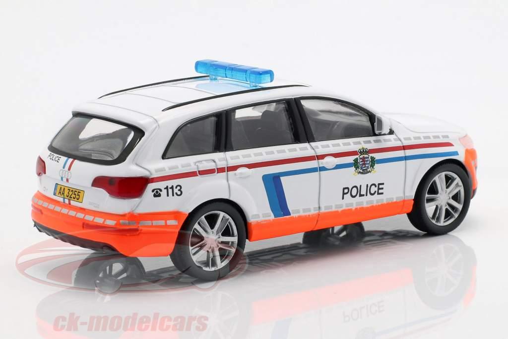 Audi Q7 polizia bianco / arancione in bolla 1:43 Altaya