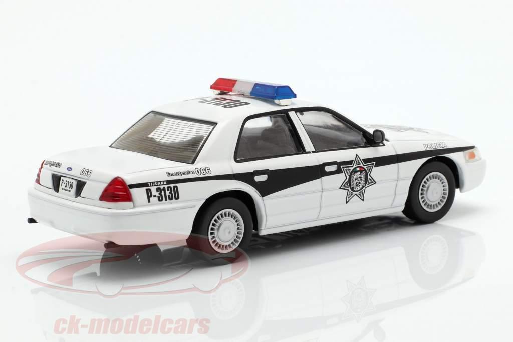Ford Crown Victoria policia Messico bianco 1:43 Altaya