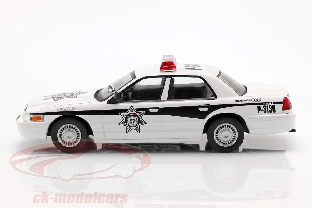 Ford Crown Victoria Policia Mexique blanc 1:43 Altaya