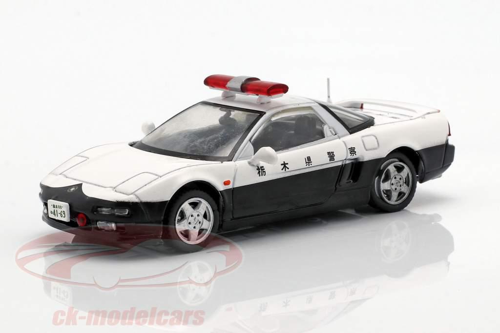 Honda NSX politie wit / zwart in blaar 1:43 Altaya