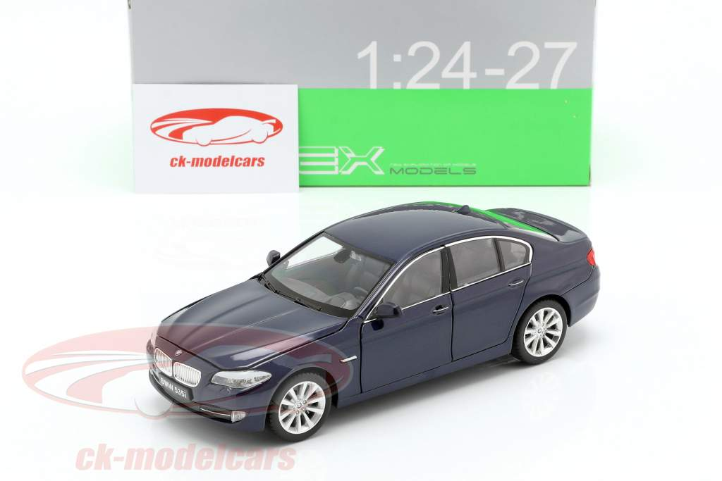 BMW 535i year 2010 dark blue metallic 1:24 Welly