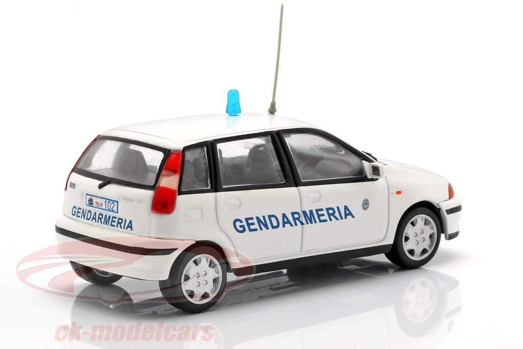 Fiat Punto Gendarmeria bianco 1:43 Altaya