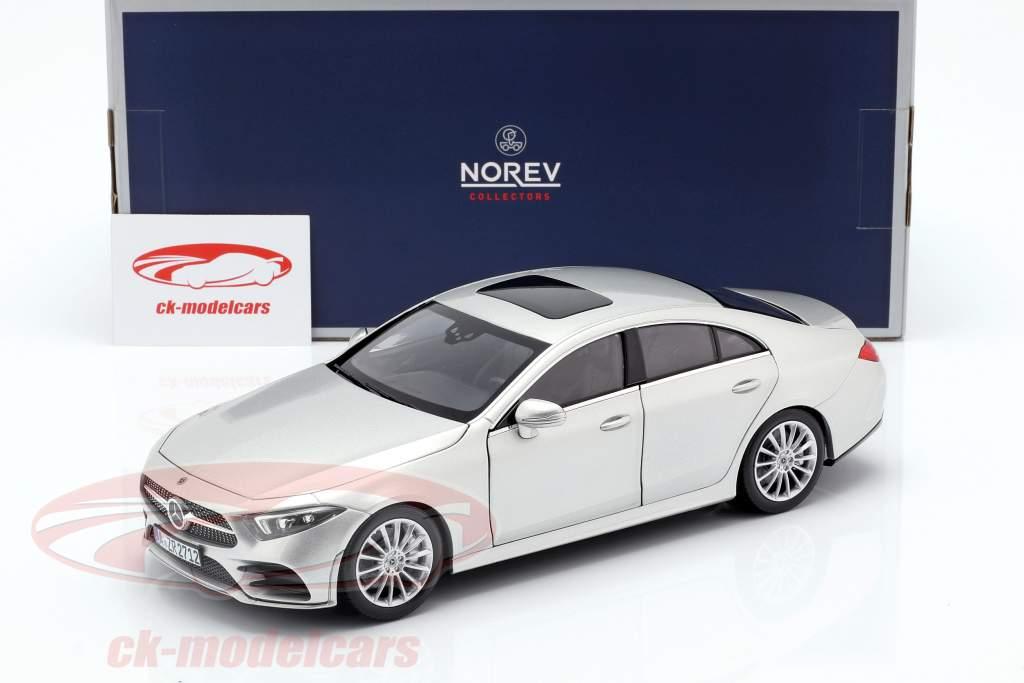 Mercedes-Benz CLS-Class (C257) construído em 2018 prata 1:18 Norev