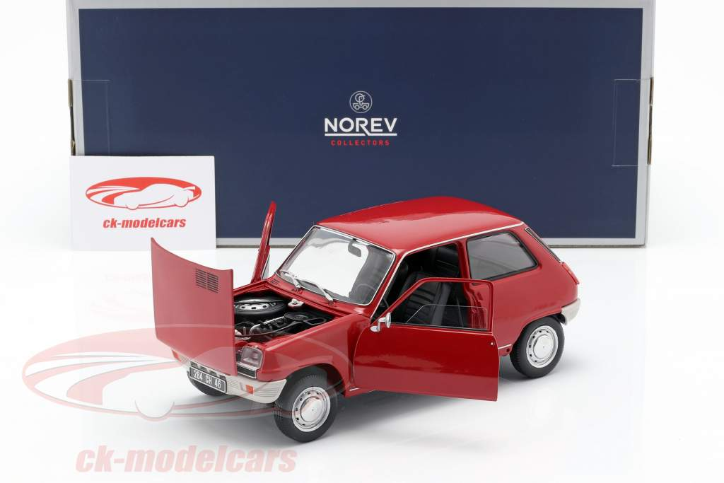Renault 5 Opførselsår 1972 rød 1:18 Norev