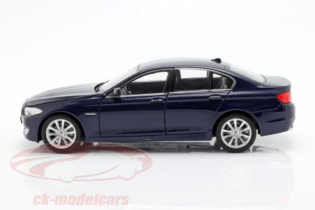 BMW 535i Baujahr 2010 dunkelblau metallic 1:24 Welly