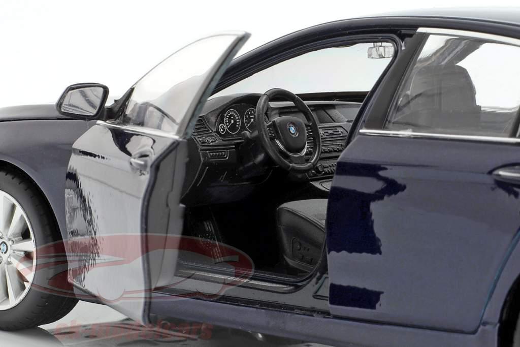 BMW 535i año de construcción 2010 azul oscuro metálico 1:24 Welly