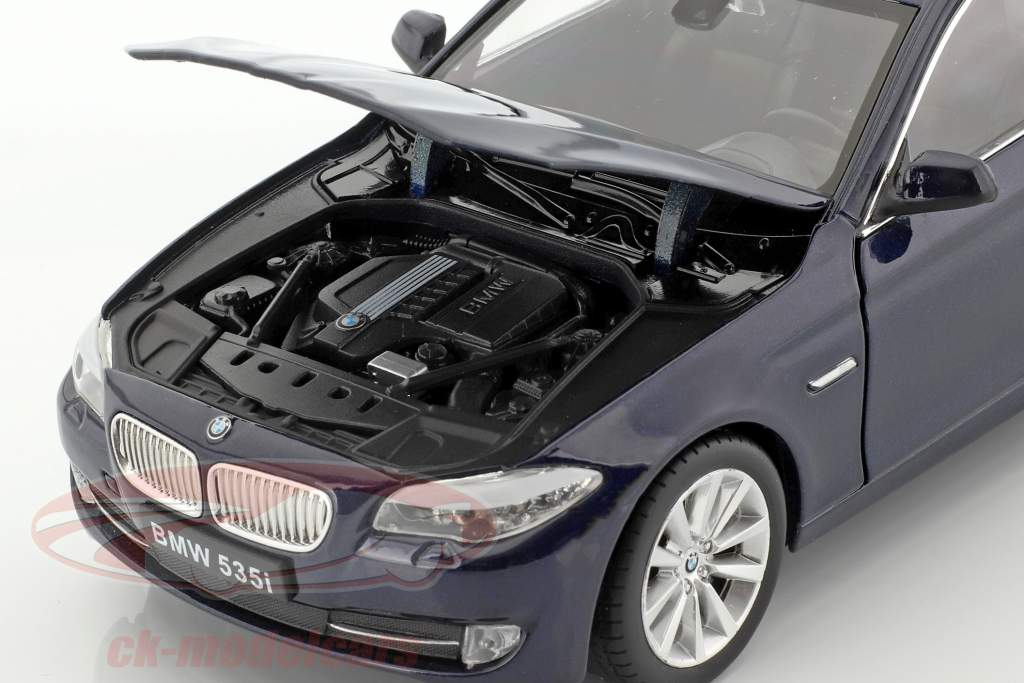 BMW 535i anno di costruzione 2010 blu scuro metallico 1:24 Welly