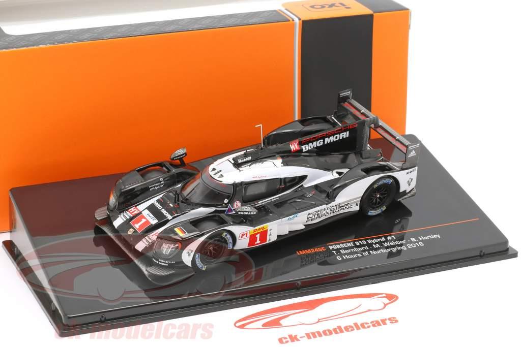 Porsche 919 Hybrid #1 winnaar WEC 6h Nürburgring 2016 Bernhard, Webber, Hartley 1:43 Ixo