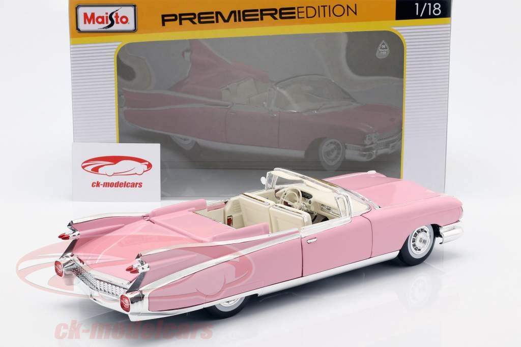 Cadillac Eldorado Biarritz År 1959 lyserød 1:18 Maisto