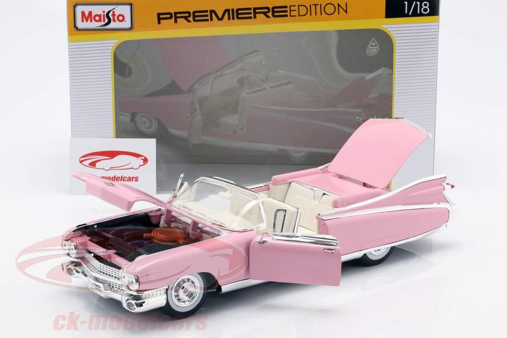 Cadillac Eldorado Biarritz Ano 1959 rosa 1:18 Maisto