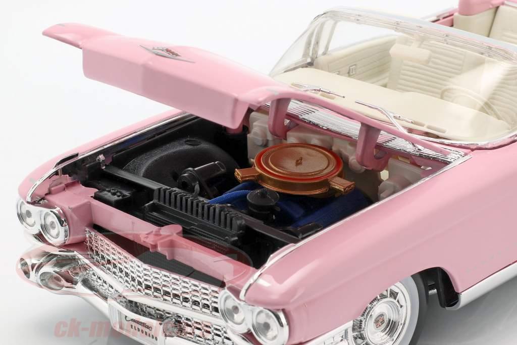 Cadillac Eldorado Biarritz Année 1959 rose 1:18 Maisto