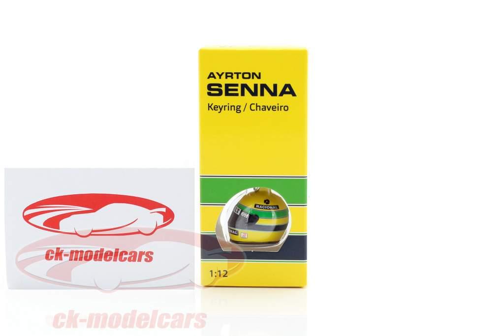 Ayrton Senna 3D cadena clave casco fórmula 1 1994 1:12 Minichamps