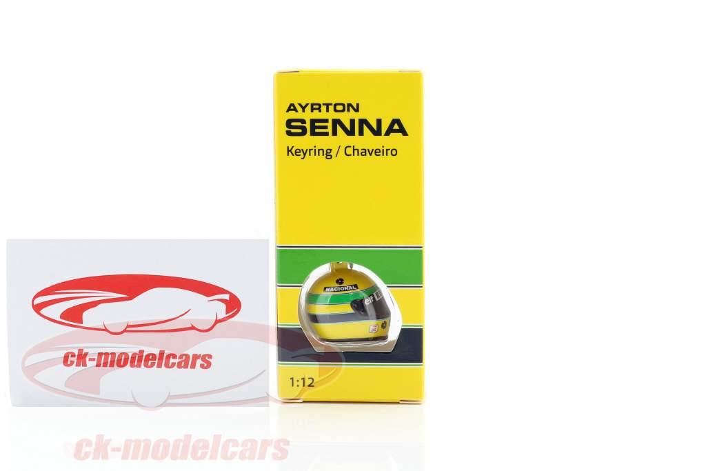 Ayrton Senna 3D nøglering hjelm formel 1 1994 1:12 Minichamps