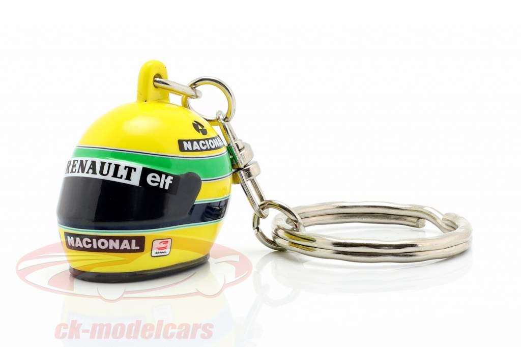 Ayrton Senna 3D Schlüsselanhänger Helm Formel 1 1994 1:12 Minichamps