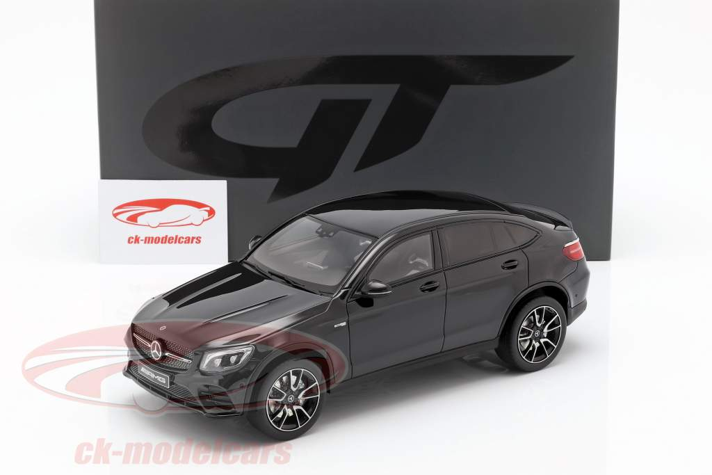 Mercedes-Benz AMG GLC 43 coupe (C253)  year 2017 obsidian black 1:18 GT-Spirit