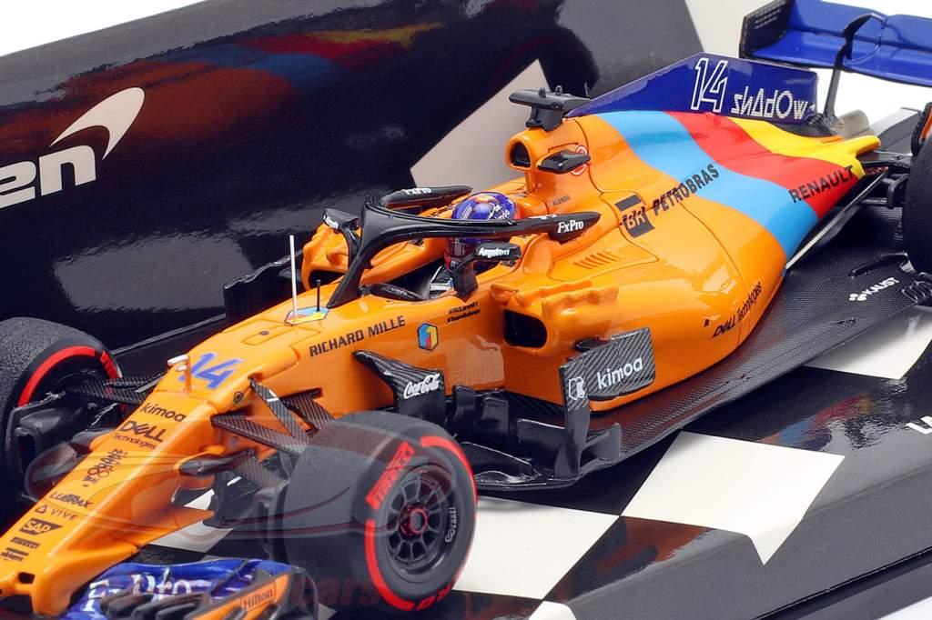 Fernando Alonso McLaren MCL33 #14 Last F1 Race Abu Dhabi GP 2018 1:43 Minichamps