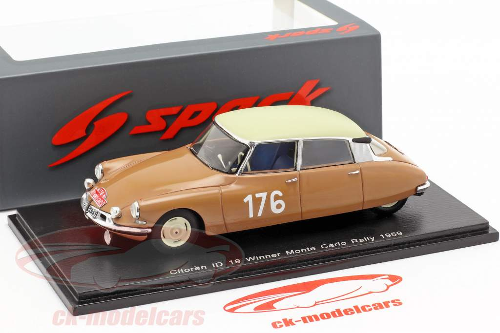 Citroen ID 19 #176 gagnant Rallye Monte Carlo 1959 Coltelloni, Alexandre, Desrosiers 1:43 Spark