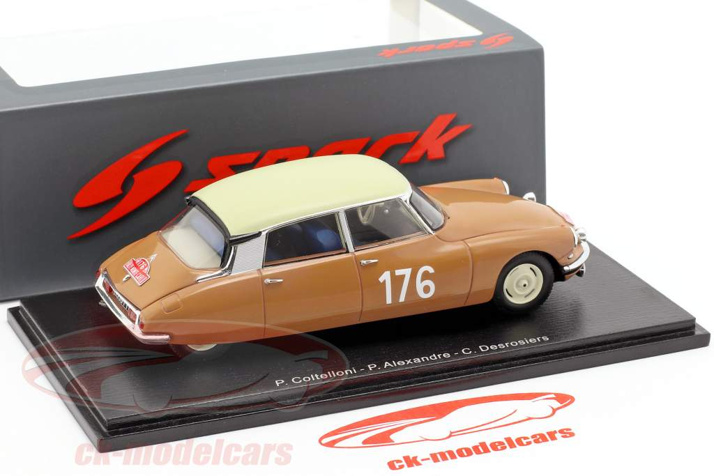 Citroen ID 19 #176 ganador Rallye Monte Carlo 1959 Coltelloni, Alexandre, Desrosiers 1:43 Spark
