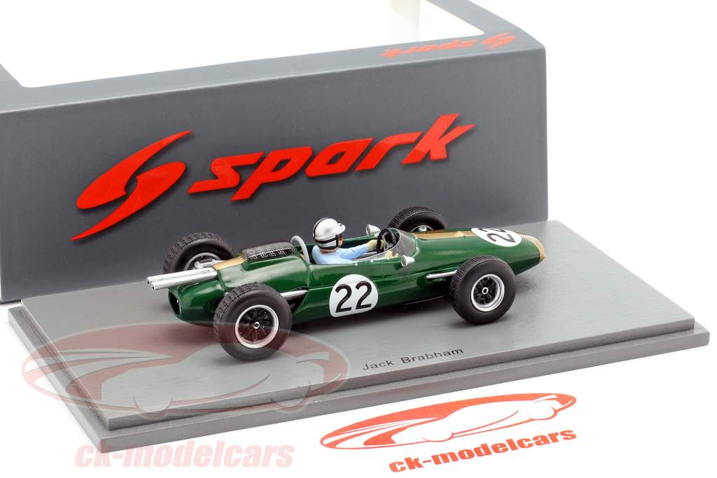 Jack Brabham Brabham BT3 #22 Italy GP formula 1 1963 1:43 Spark