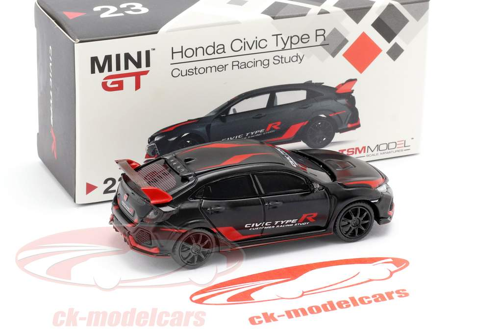 Honda Civic Type R (FK8) LHD Customer Racing Study noir / rouge 1:64 TrueScale