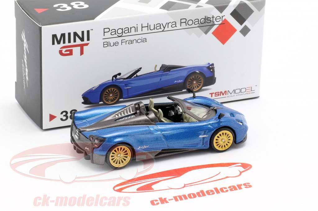 Pagani Huayra Roadster LHD francia blue 1:64 TrueScale