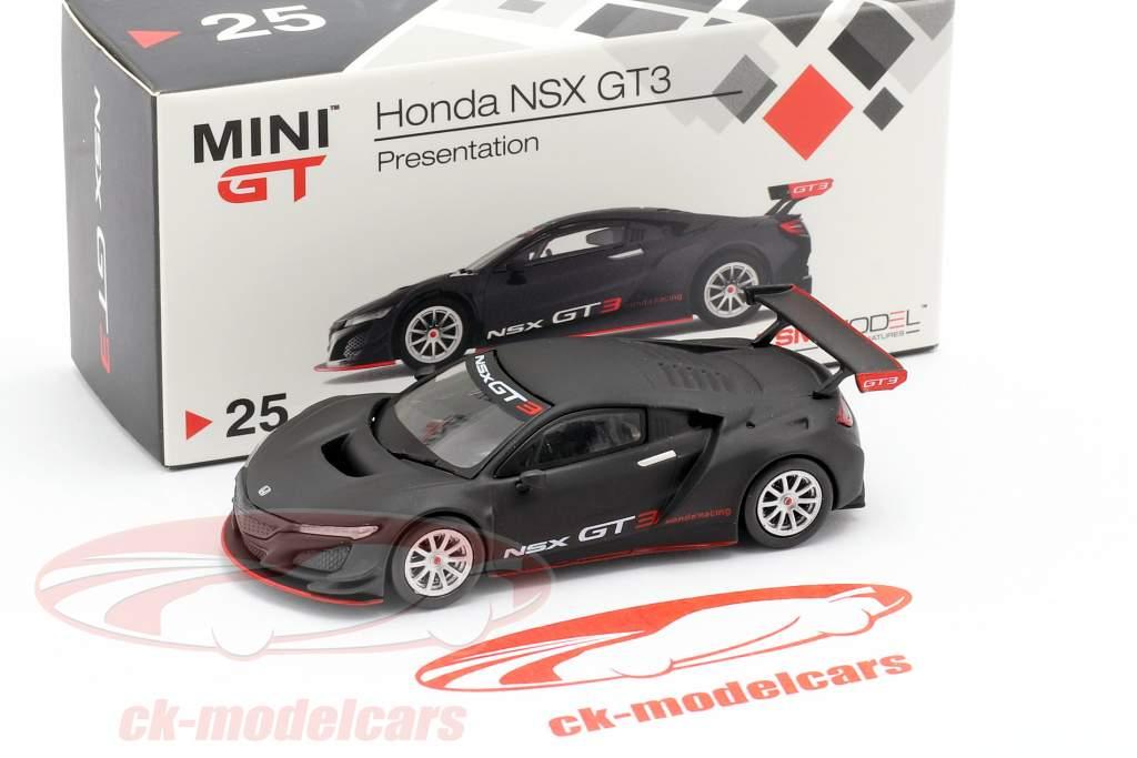 Honda NSX GT3 Presentation Car preto 1:64 TrueScale