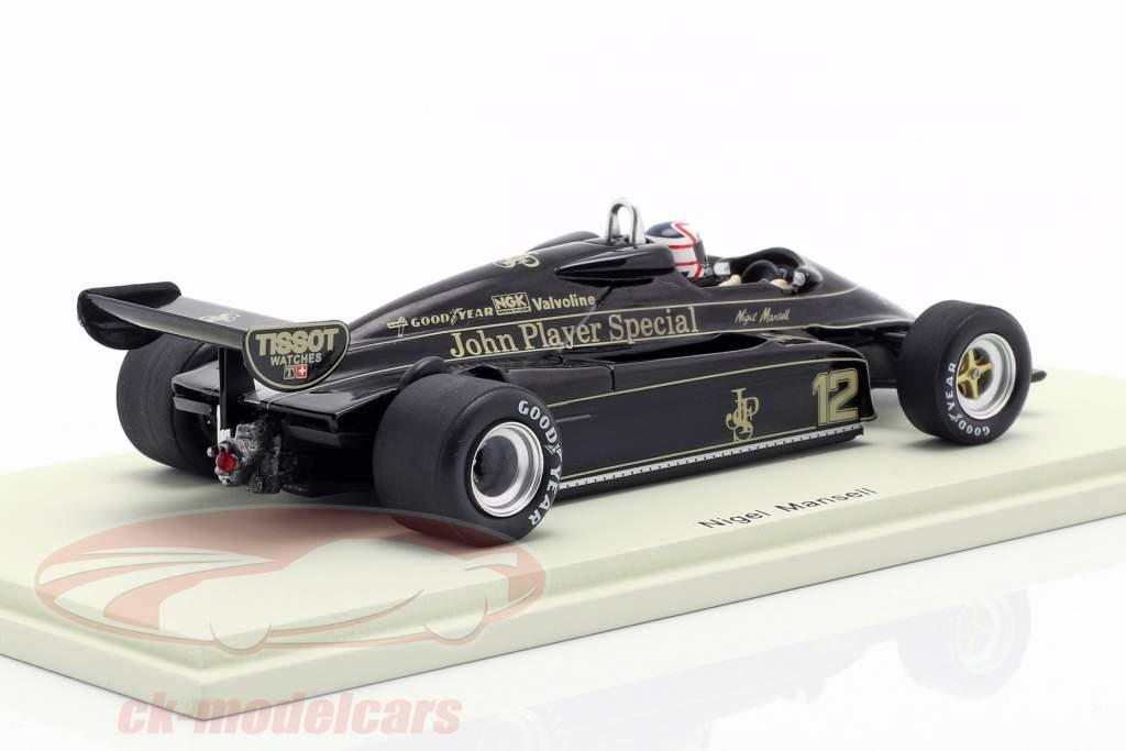 Nigel Mansell Lotus 91 #12 3e Brazil GP formule 1 1982 1:43 Spark