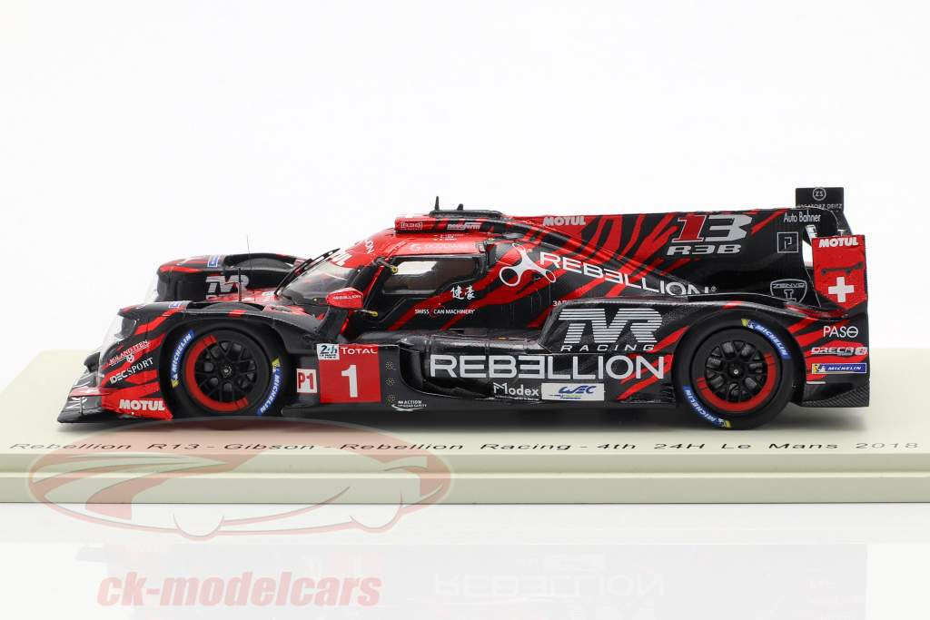 Rebellion R13 #1 4th LMP1 Class 24h LeMans 2018 Lotterer, Jani, Senna 1:43 Spark