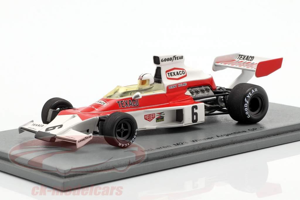 Denis Hulme McLaren M23 #6 vencedor Argentinian GP fórmula 1 1974 1:43 Spark