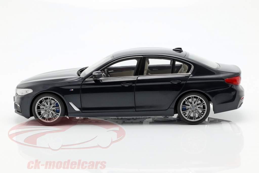 BMW 5 Series (G30) year 2017 sapphire black 1:18 Kyosho