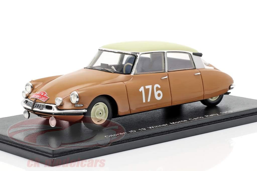 Citroen ID 19 #176 Winner Rally Monte Carlo 1959 Coltelloni, Alexandre, Desrosiers 1:43 Spark