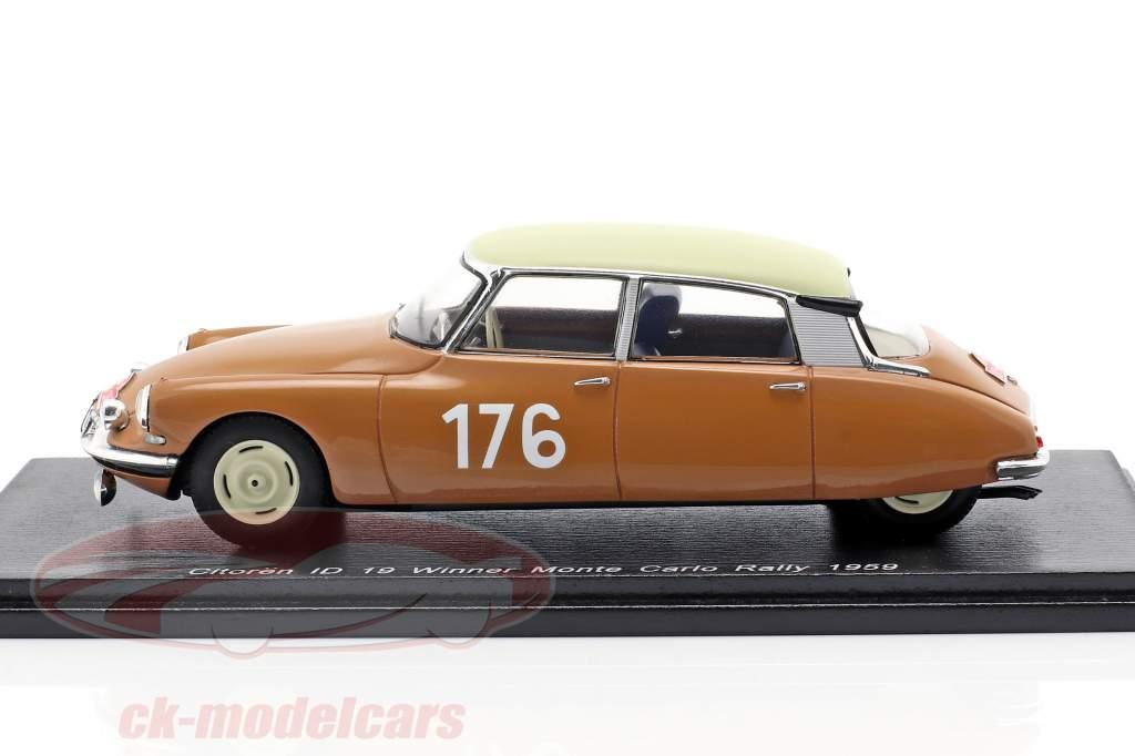 Citroen ID 19 #176 winnaar Rallye Monte Carlo 1959 Coltelloni, Alexandre, Desrosiers 1:43 Spark