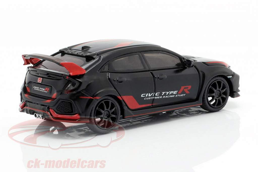 Honda Civic Type R (FK8) LHD Customer Racing Study black / red 1:64 TrueScale