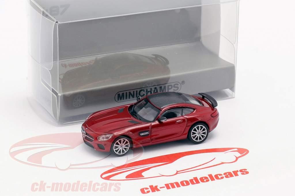 Mercedes-Benz AMG GTS año de construcción 2015 rojo metálico 1:87 Minichamps