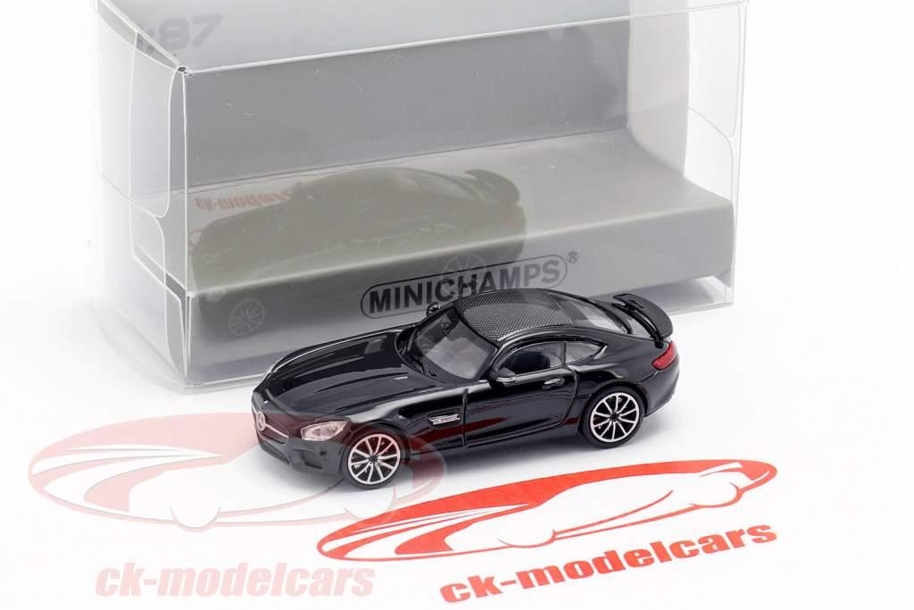 Mercedes-Benz AMG GTS Baujahr 2015 schwarz 1:87 Minichamps