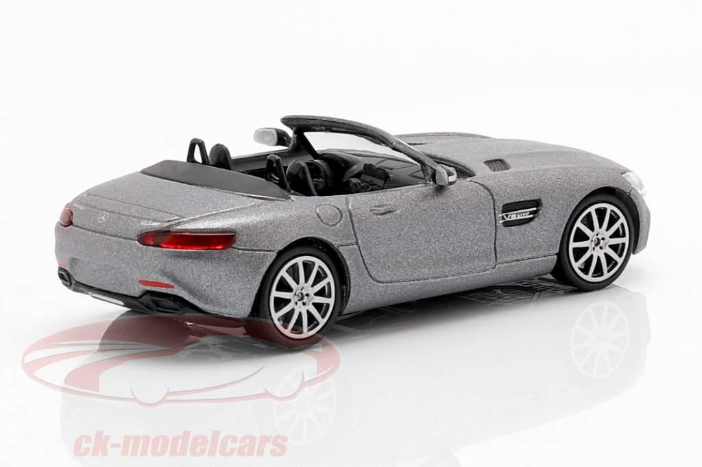 Mercedes-Benz AMG GTS Roadster year 2015 mat gray 1:87 Minichamps