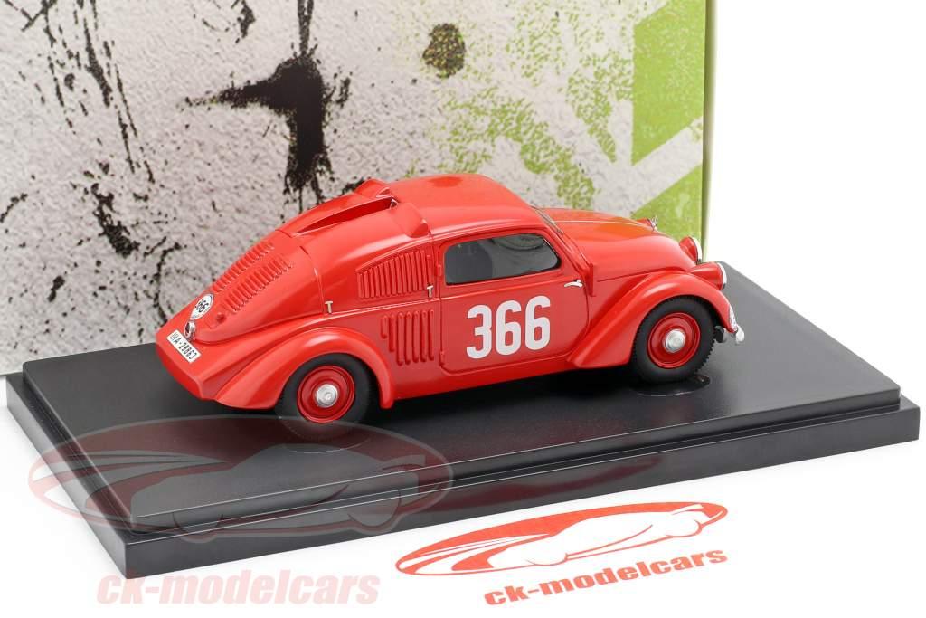 Mercedes-Benz 150H #366 sport Sedan ano de construção 1934 vermelho 1:43 AutoCult