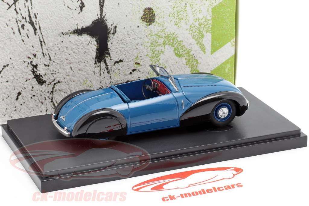 BMW 340/1 Roadster Baujahr 1949 blau / schwarz 1:43 AutoCult