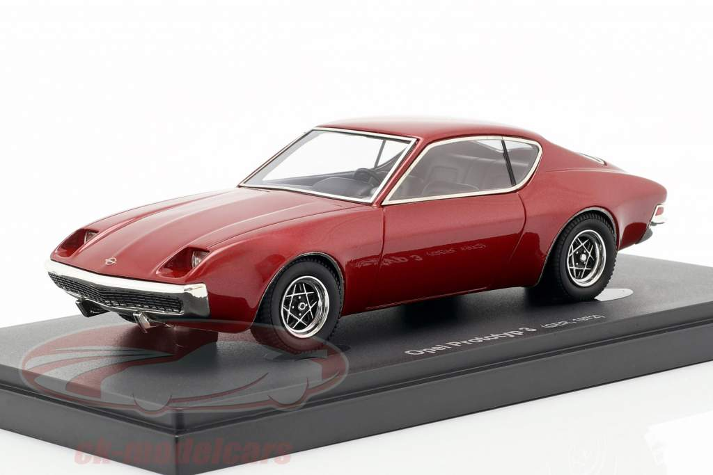 Opel prototipo 3 anno di costruzione 1972 scuro rosso 1:43 AutoCult