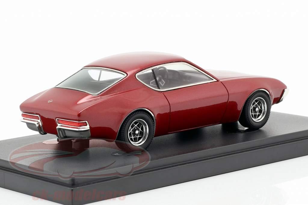 Opel protótipo 3 ano de construção 1972 escuro vermelho 1:43 AutoCult