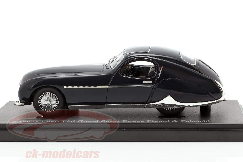 Talbot Lago T26 Grand Sport Coupe Bouwjaar 1949 donkerblauw 1:43 AutoCult