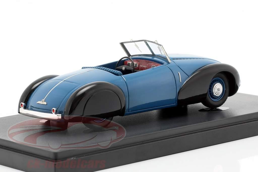BMW 340/1 Roadster ano de construção 1949 azul / preto 1:43 AutoCult