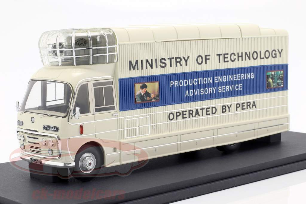 Bedford SB3 Mobile Cinema année de construction 1967 blanc / bleu 1:43 AutoCult